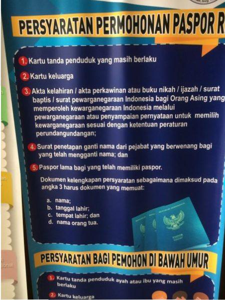 dokumen pembuatan paspor